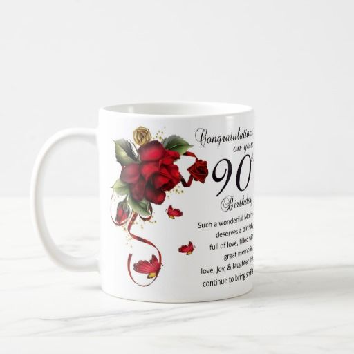Mother 90th Birthday, Gift Mug 90th Birthday