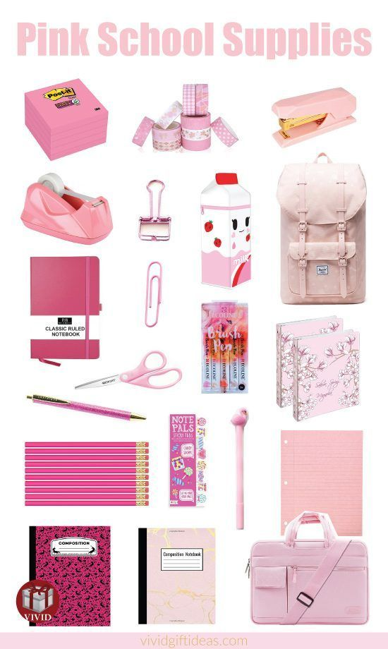 Cute back to school supplies in pink | Pink school essentials
