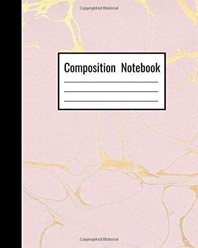 Gold Pink Marble Notebook. Pink school essentials for teens. Pink back to school...