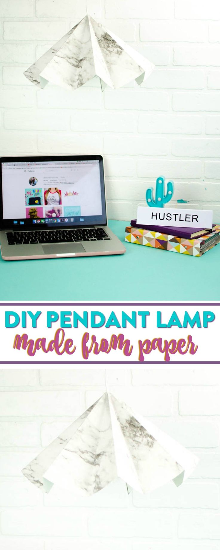 I made a DIY lamp and not just any kind of lamp but a DIY paper lamp! Yup- crazy...