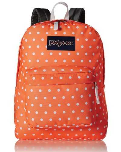 JanSport Superbreak Backpack. Vintage dot day backpack. Cute backpacks for teena...