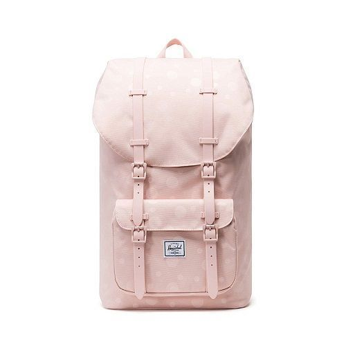 Soft Pink Herschel Backpack with subtle polka dots pattern (Pink school essentia...