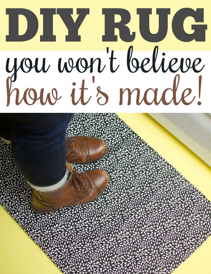 With thisDIY Rug, you can take your favorite fabric and turn it into a cute fu...