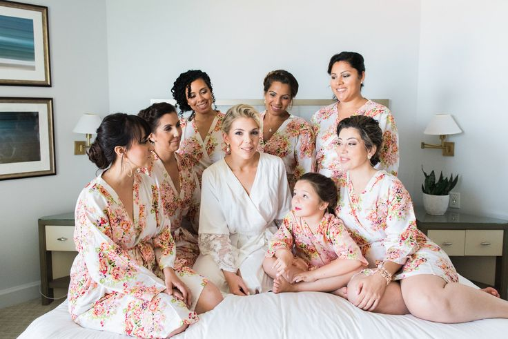 Floral Bridesmaid Robes - Flagler Museum Palm Beach Wedding Venue - The Overwhel...