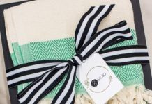Best Corporate Gifts Ideas : CLIENT GIFTS// Black, white and aqua client appreci...