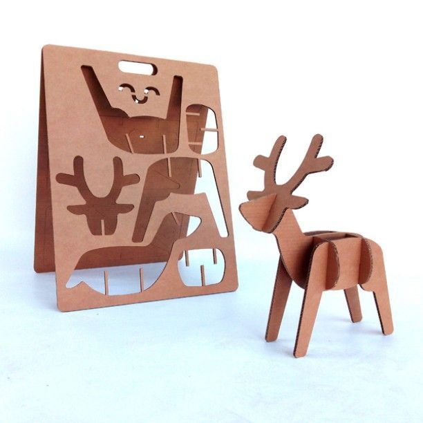Cardboard deer reindeer for xmas! Perfect corporate gift for Christmas or for ki...