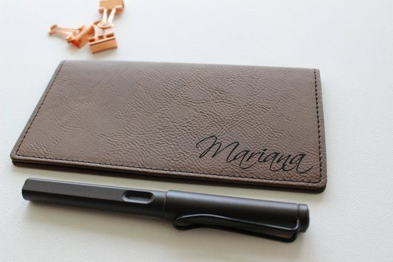 Personalized Check Book Cover for Women or Men, Company Gifts, Corporate Gift Id...