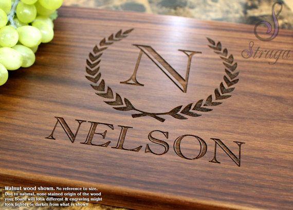 Personalized Cutting Board, Custom Cutting Board, Engraved Cutting Board, Monogr...