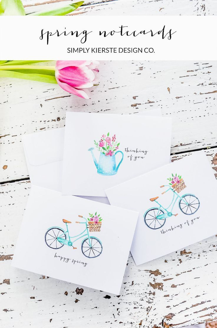 Spring Notecards | Vintage Notecards | Thinking of You | simplykierste.com #note...
