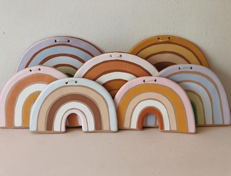 clay #rainbows are adorable for a kids room