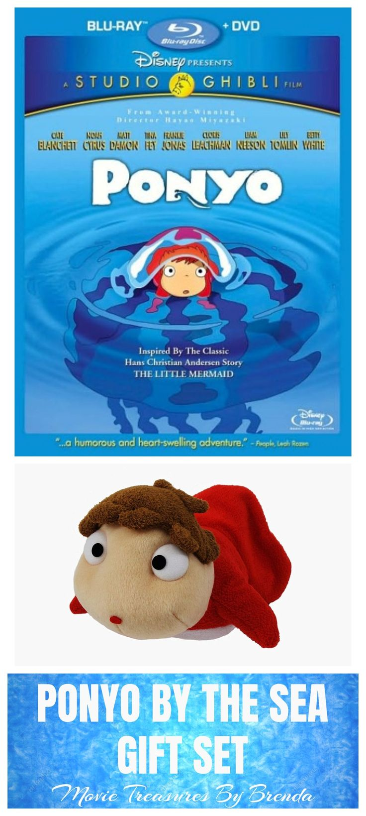 A fun Ponyo by the Sea themed gift set for the Studio Ghibli fan in your life