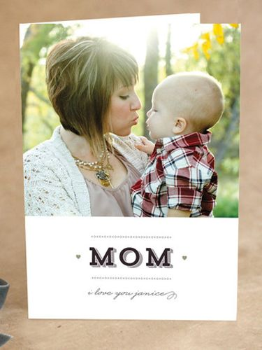 This Mother's Day card can be customized with your own photo!