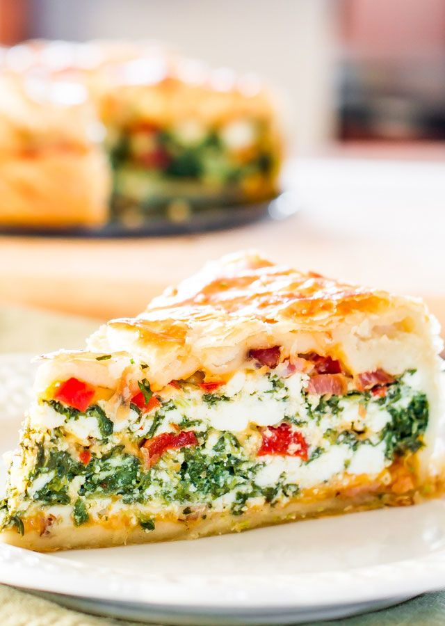 Deliver mom an oversized slice of this crusty breakfast bake stuffed with spinac...