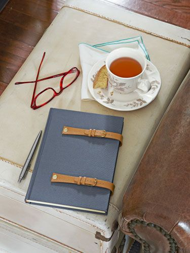 For the mom who loves to journal: A DIY watchband notebook.