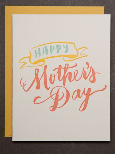 A simple but pretty Mother's Day card.