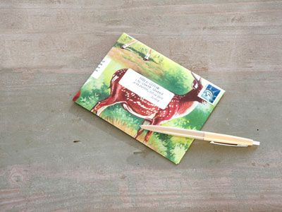 Put mom's card in a DIY envelope!