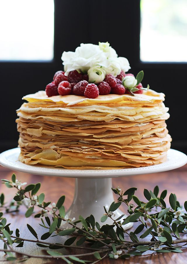 Serve this crepe cake for Mom at her Mother's Day brunch. We guarantee she&#...