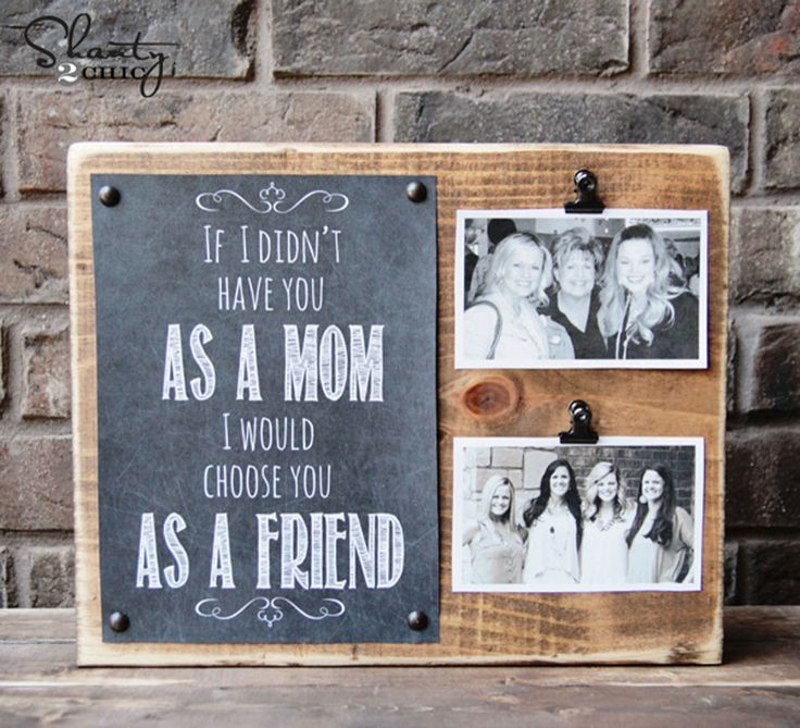 Show mom what she means to you by clipping some of your favorite snapshots to a ...
