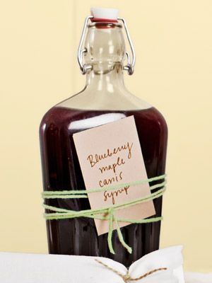 This Blueberry-Maple-Cassis Syrup is easy to make—pour it into a glass bottle ...