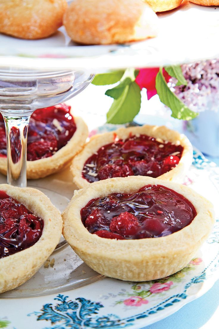 To ease preparation, fill store-bought tartlet shells with fresh conserves.