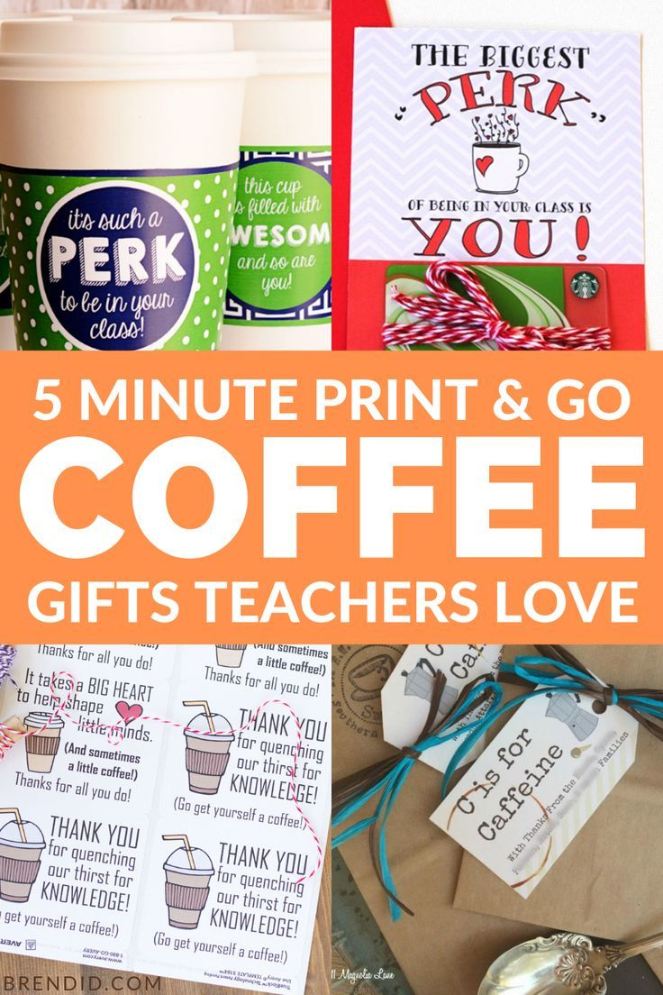 Need a quick and easy teacher gift?  These 10 coffee gifts are easy to make and ...