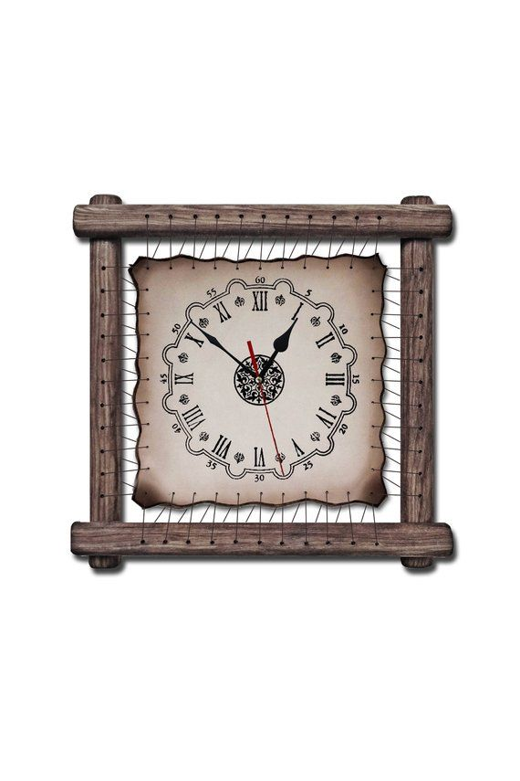 Corporate Gift Clock Wooden framed gifts for dad lawyer gifts for man modern woo...