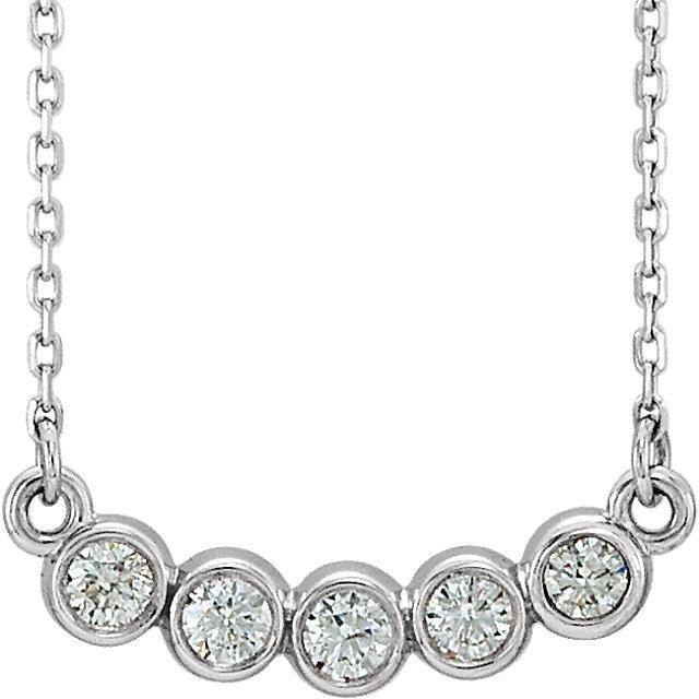 Ethically Mined Natural Diamond Bezel Set Necklace