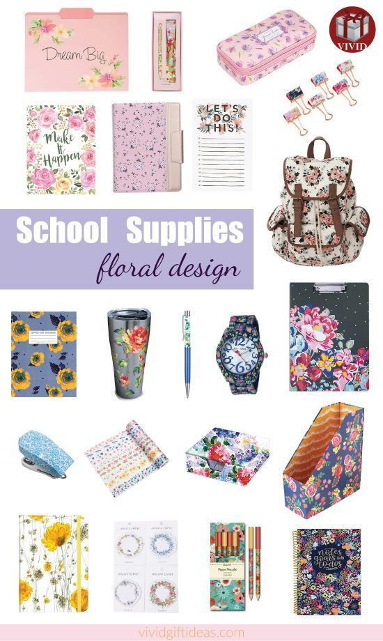 Awesome school supplies in floral design   Floral school supplies and accessorie...