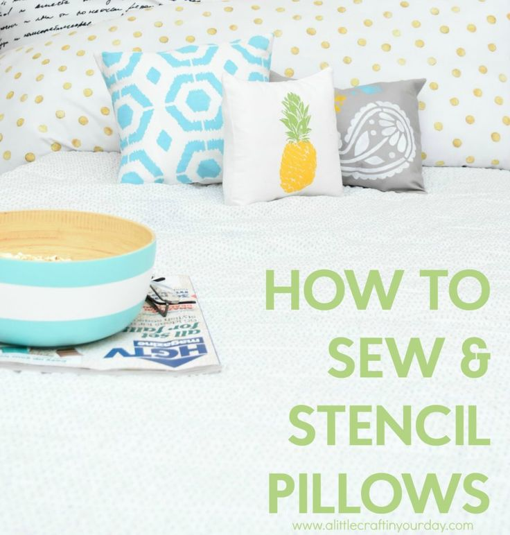 Decorative pillows are so expensive, but there is no reason to  break the bank w...