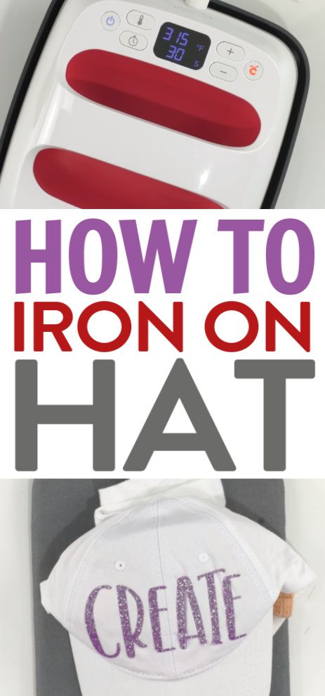 I'm super excited  to share my tips and tricks for How to Iron On a Hat.This i...