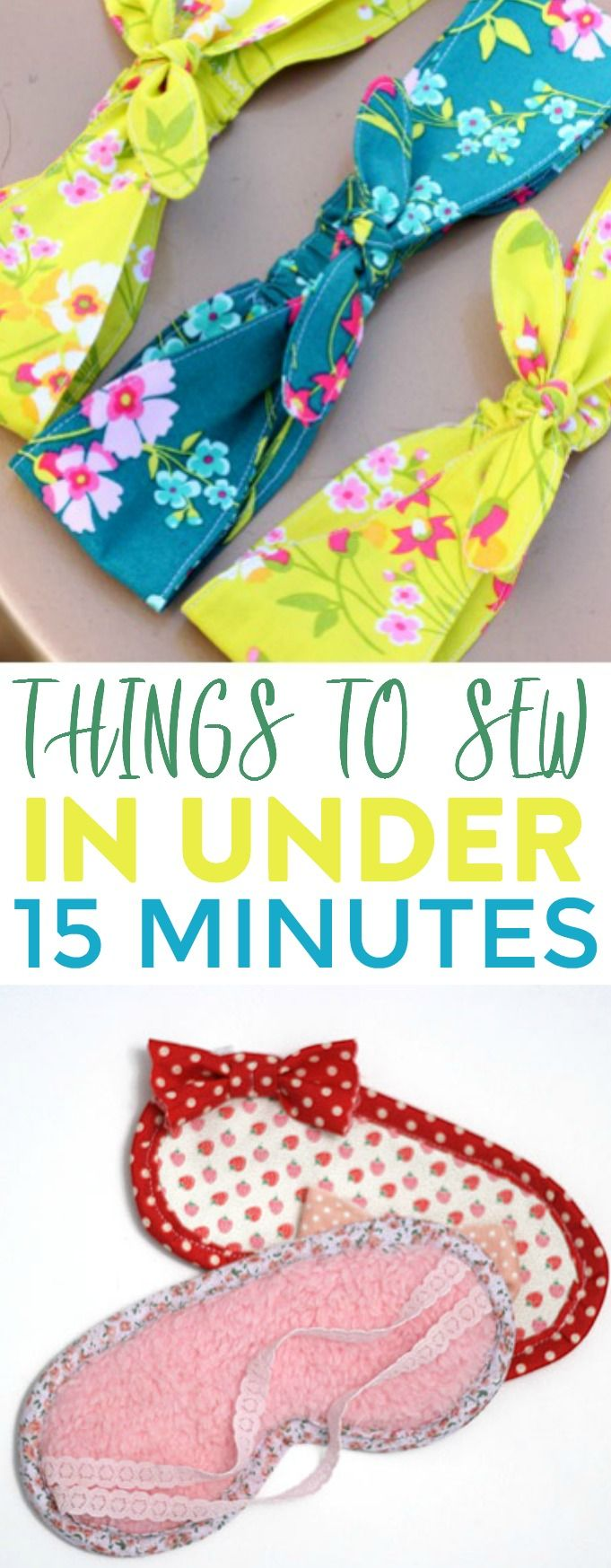 If you're looking for easy sewing projects that you can finish  quickly, these...