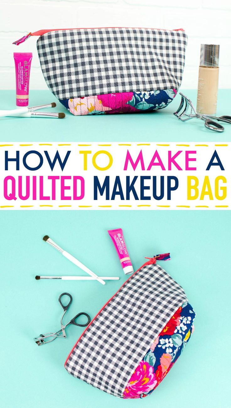 Quilting can sound intimidating, but learning how to make a  quilted makeup bag ...
