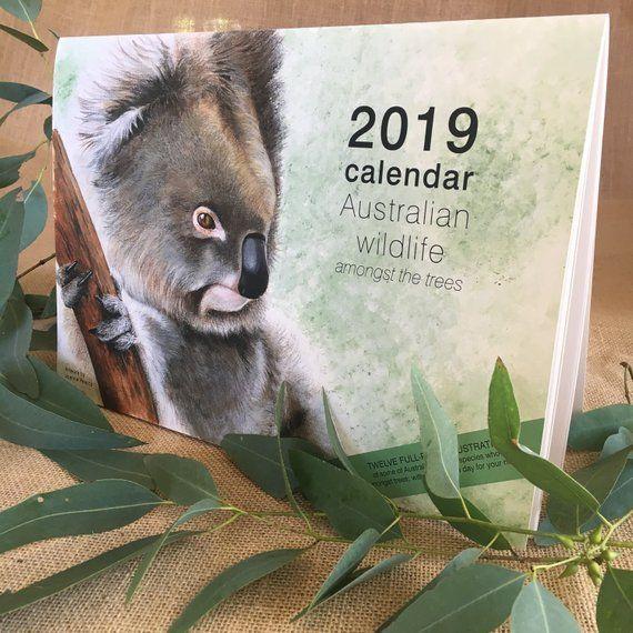 2019 Calendar Australian wildlife - A4 wall calendar Christmas corporate gift ho...