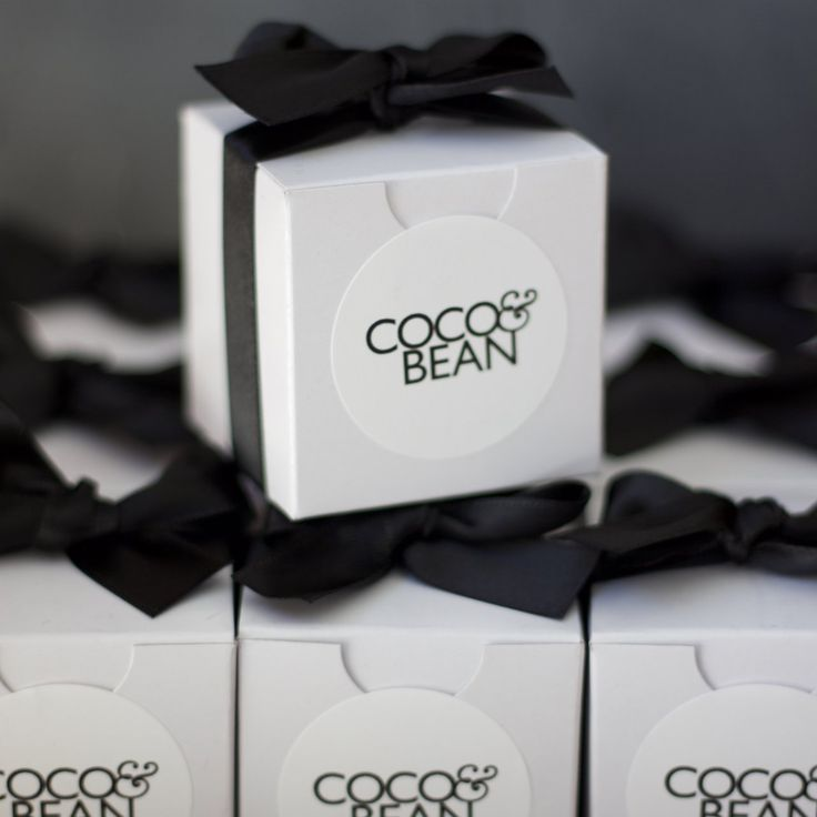 Belgian Chocolate Brownie Favour Box | Coco & Bean are the creators and bakers o...