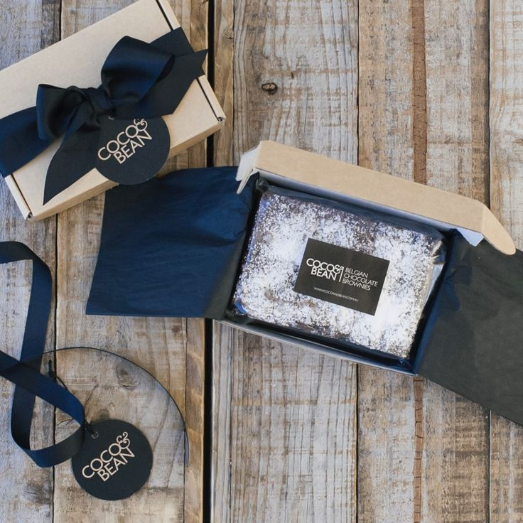 Belgian chocolate brownies 6 pack gift box | Coco & Bean are the creators and ba...