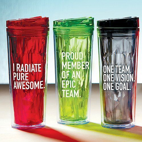Corporate Gifts Ideas Vibrant Prism Tumbler – I Radiate Pure Awesome