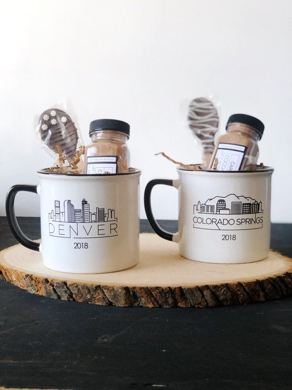 Denver has a beautiful skyline and is perfect for this hearty, cocoa mug. This D...