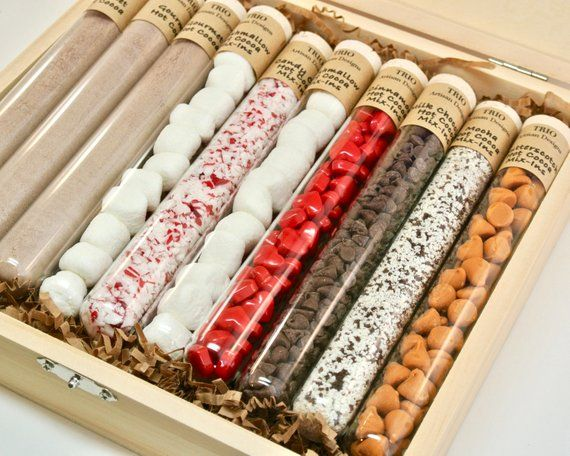 Hot Chocolate Sampler, Test Tube Hot Chocolate Kit, Hot Cocoa Gift Set, Science ...
