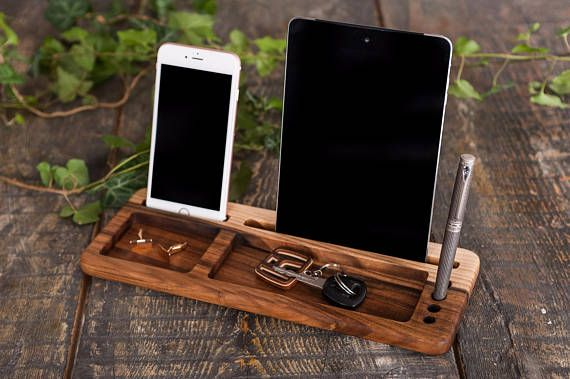 Wood phone holder,Nightstand docking station,Corporate event,Employee gifts,Corp...
