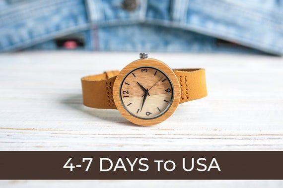 Wooden watch,Women watch,Corporate gift,Engrave watch women,Engrave wood watch,W...
