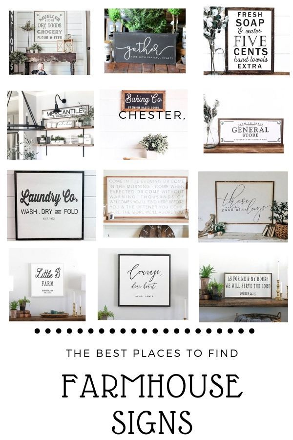The Best Places to Find Farmhouse Signs - Old Salt Farm