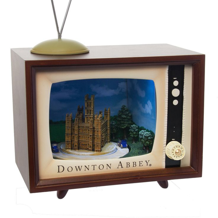 Downton Abbey Musical TV Set Animated Electronic Music Box Vintage Television 89...