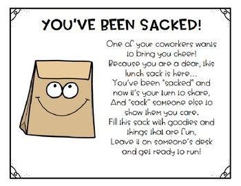 Staff Morale Booster - You've Been Sacked #teach #teacher #tpt #teacherspayteach...