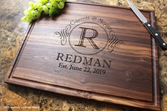 Personalized Engraved Cutting Board- Wedding Gift, Anniversary Gifts, Housewarmi...