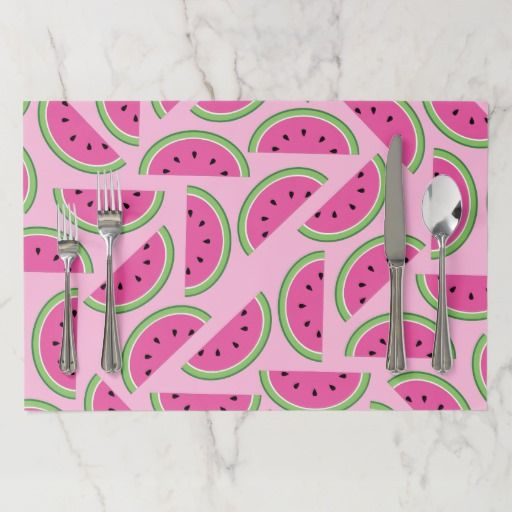 Watermelon Cute 1st Birthday Party Decor Placemats