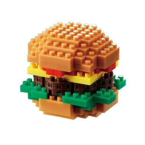 Nanoblock Hamburger Building Kit. Inexpensive gifts for teens and tweens. (Stock...