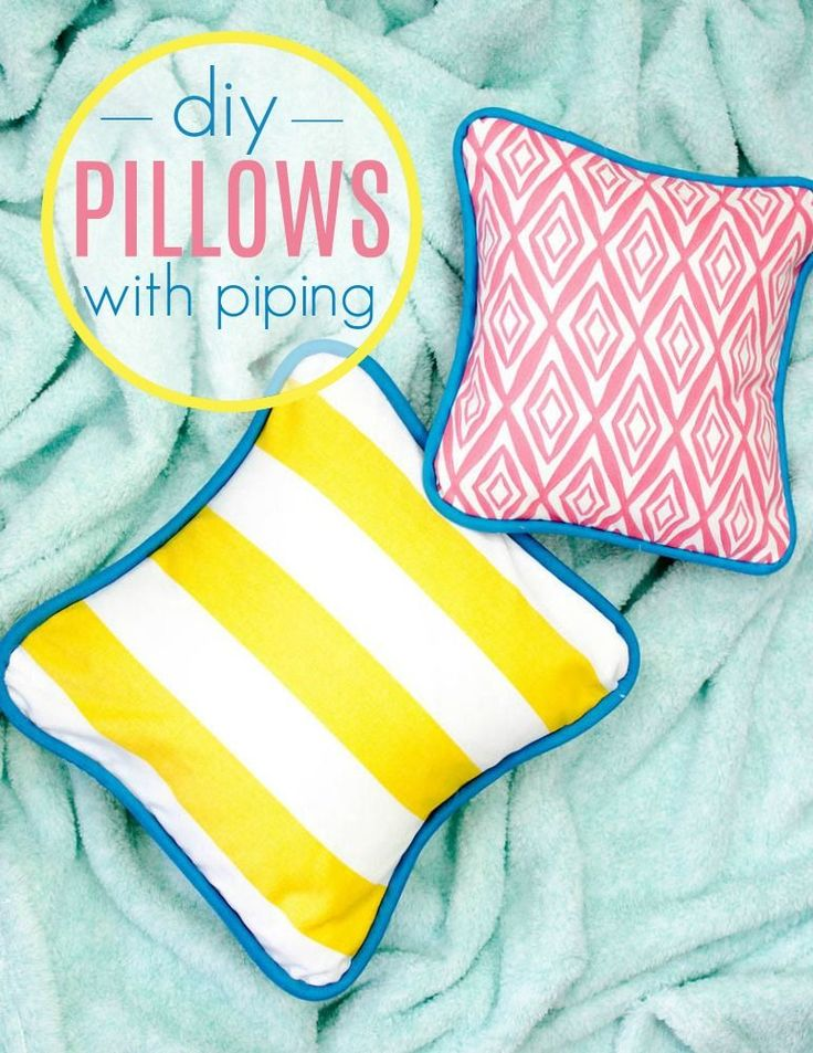 Today I get to teach you something new- how to sew a pillow cover  with piping! ...