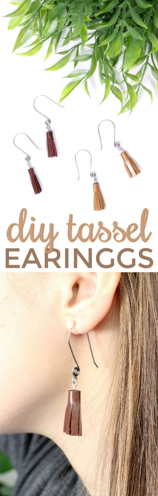 Today I want to teach you all how to make DIY Tassel Earrings  with your Cricut ...