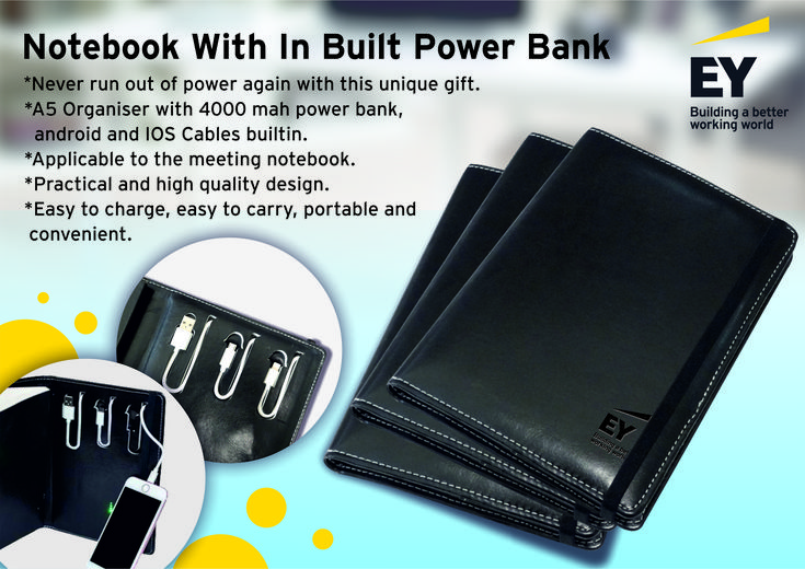 Buy Notebook with USB Power Bank Diary Online