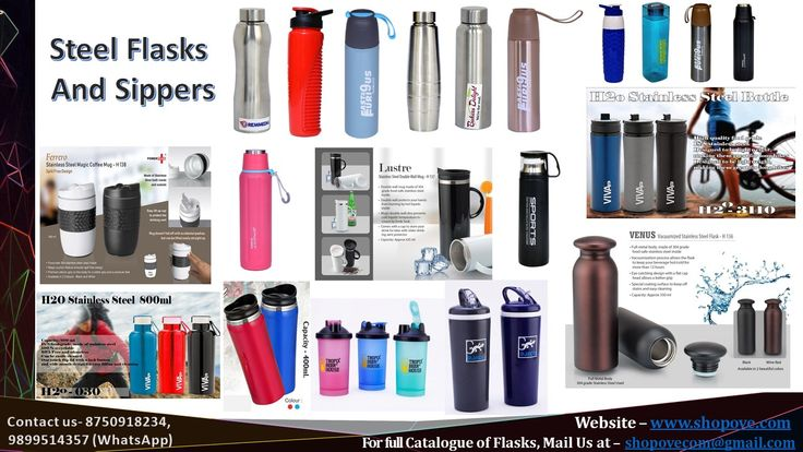 Designer Stainless steel flasks for promotional activities